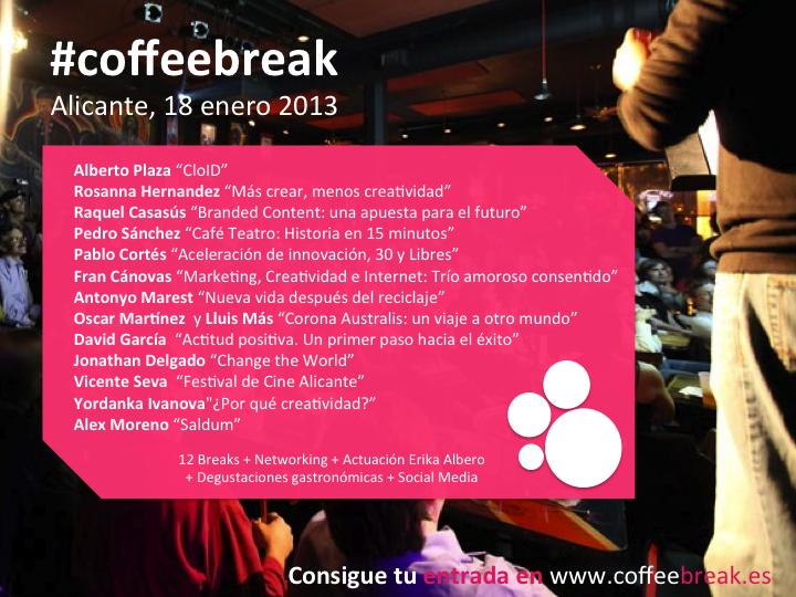 18 enero 2013, Inauguración Coffee&Break